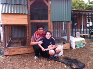 Maria and Steph: regular garden helpers