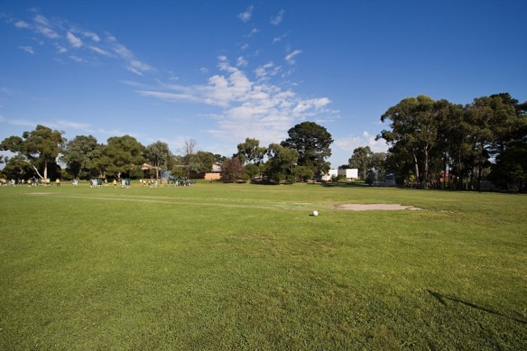 A local state primary school where the oval is well maintained